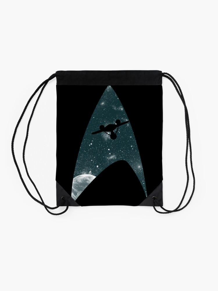 Alternate view of Space the final frontier Drawstring Bag