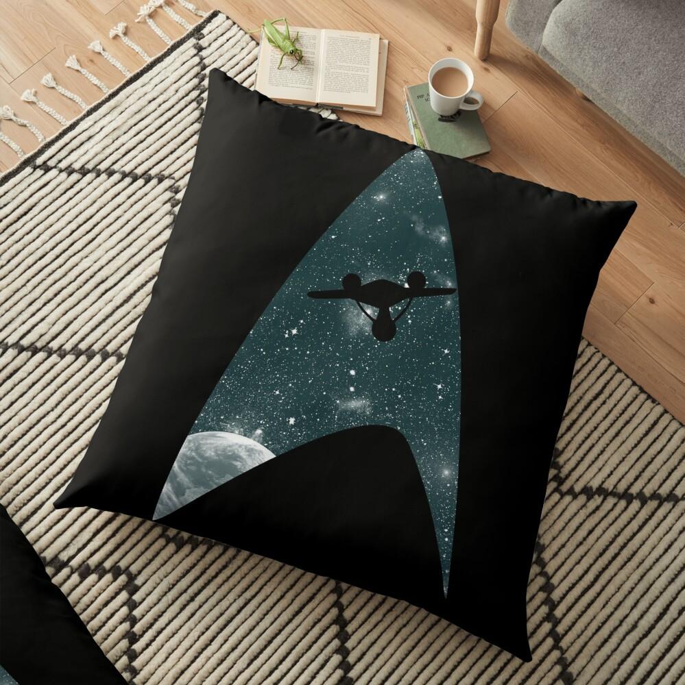 Space the final frontier Floor Pillow