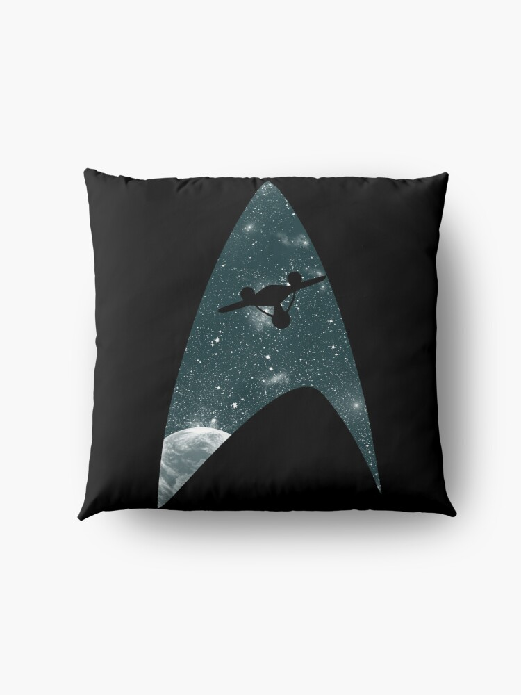 Alternate view of Space the final frontier Floor Pillow