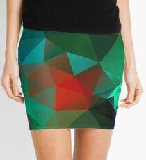 Green Polygon Art Mini Skirt