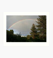 Rainbow, Inverness-shire, Scotland Art Print