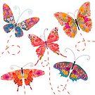 Fluttering Butterflies by Debi Hudson
