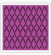 Ethno elements, on pink Sticker
