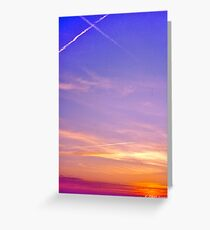 Sunset and Contrails Greeting Card