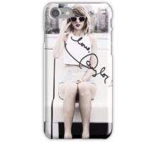 Taylor Swift 1989 Faded B&W 'love, Taylor' autograph iPhone Case/Skin