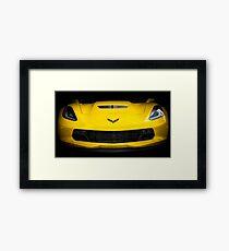 Yellow Corvette Framed Print
