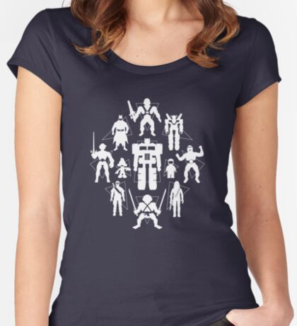 Plastic Heroes (w/Triangles) Women's Fitted Scoop T-Shirt
