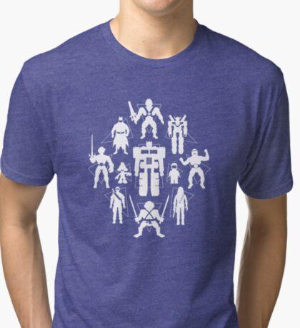 Plastic Heroes (w/Triangles) Tri-blend T-Shirt