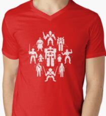 Plastic Heroes (w/Triangles) Mens V-Neck T-Shirt