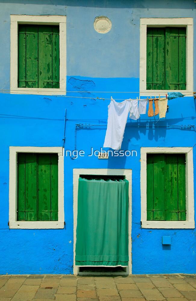 Burano Green & Blue by Inge Johnsson