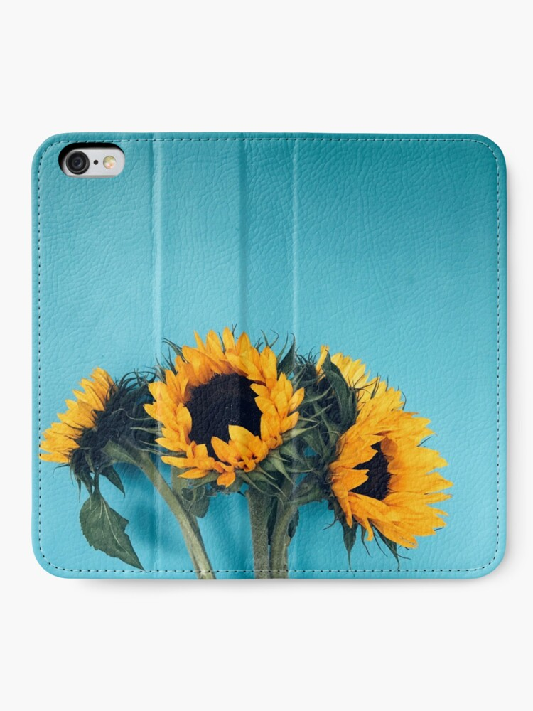 Alternate view of Sunflowers iPhone Wallet