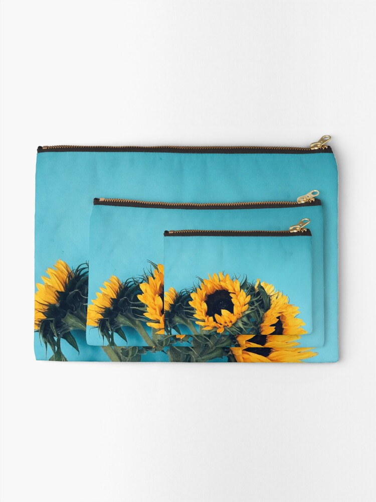 Alternate view of Sunflowers Zipper Pouch