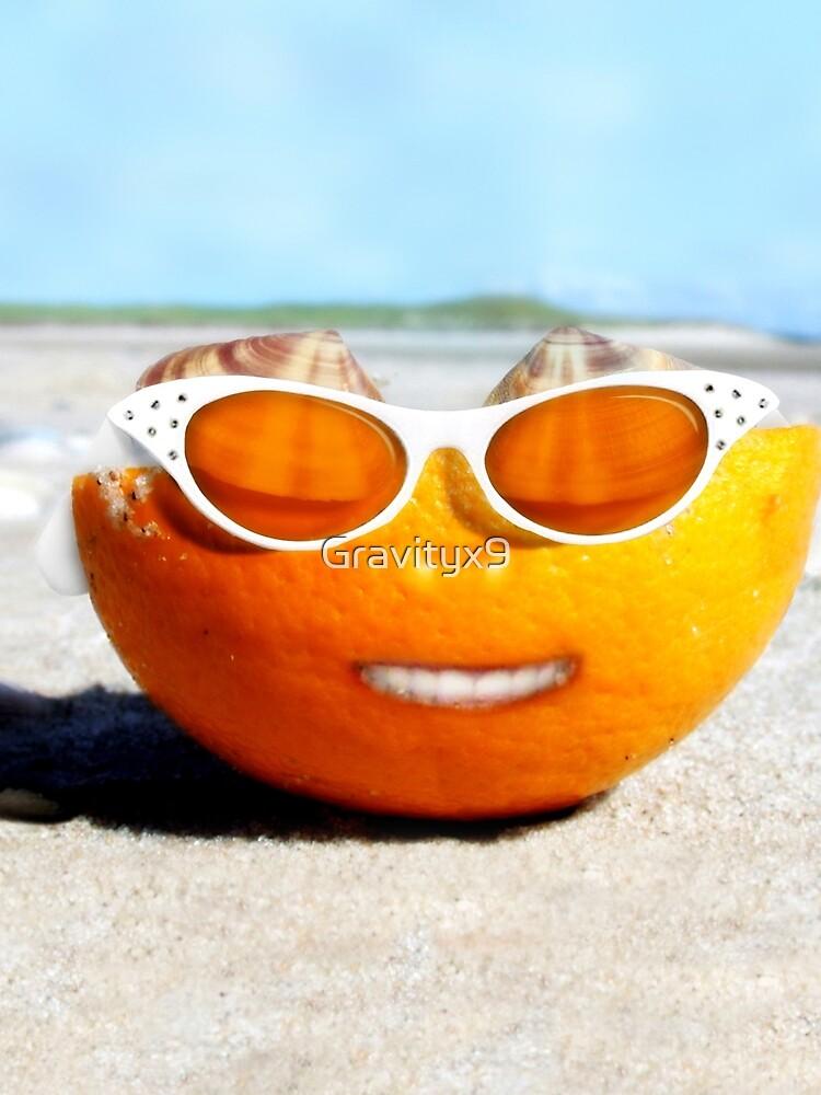 Beached Orange by Gravityx9