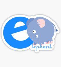 e for elephant Sticker