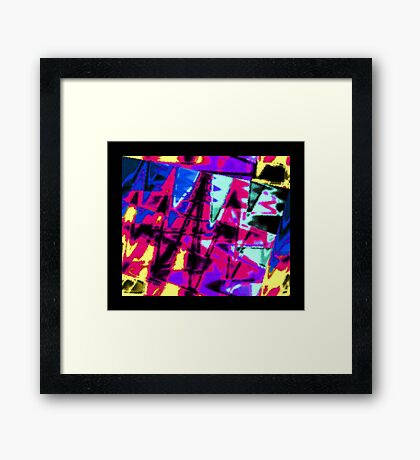 Big, Splashy Abstract Framed Print