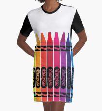 Buntstift T-Shirt Kleid
