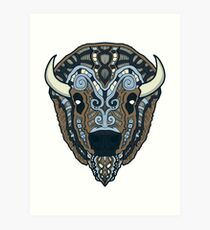Norse Bison Color Art Print