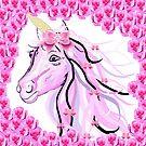 Pink Unicorn by EloiseArt