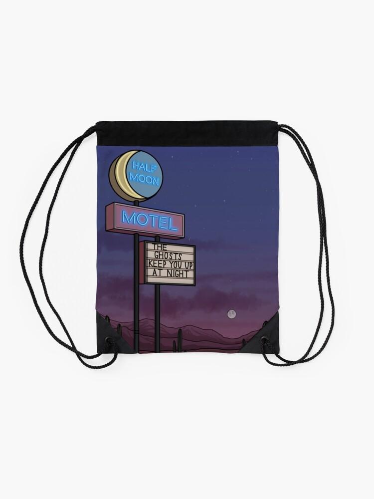 Alternate view of Ghost Motel Drawstring Bag