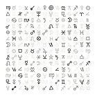 Astrology Symbols and Signs Monochrome Pattern by Starzology
