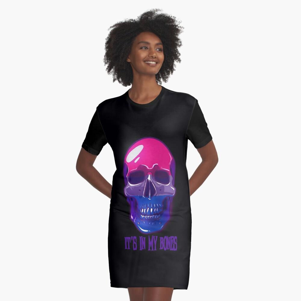 Bisexual Pride: It's In My Bones Graphic T-Shirt Dress