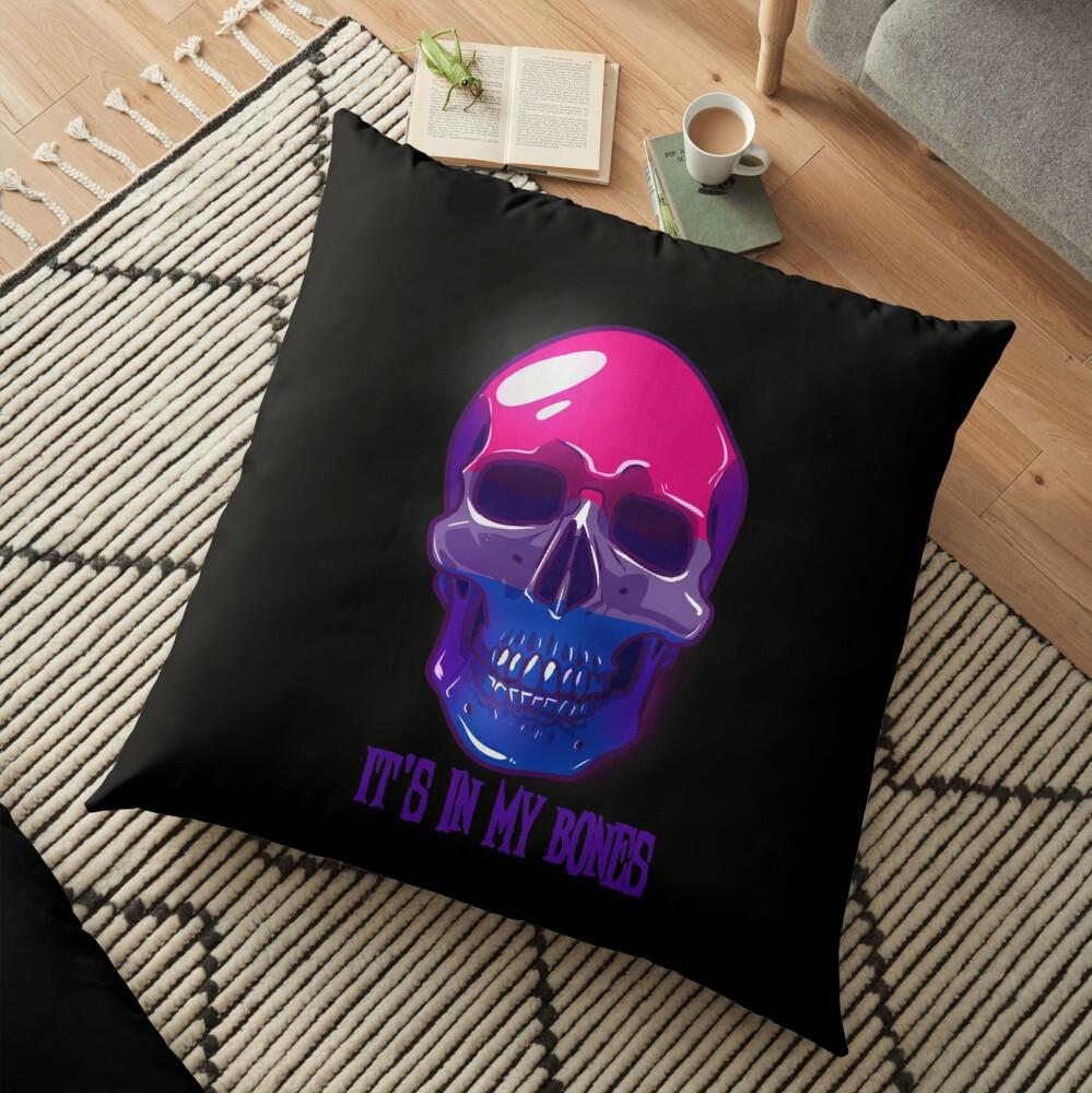 Bisexual Pride: It's In My Bones Floor Pillow