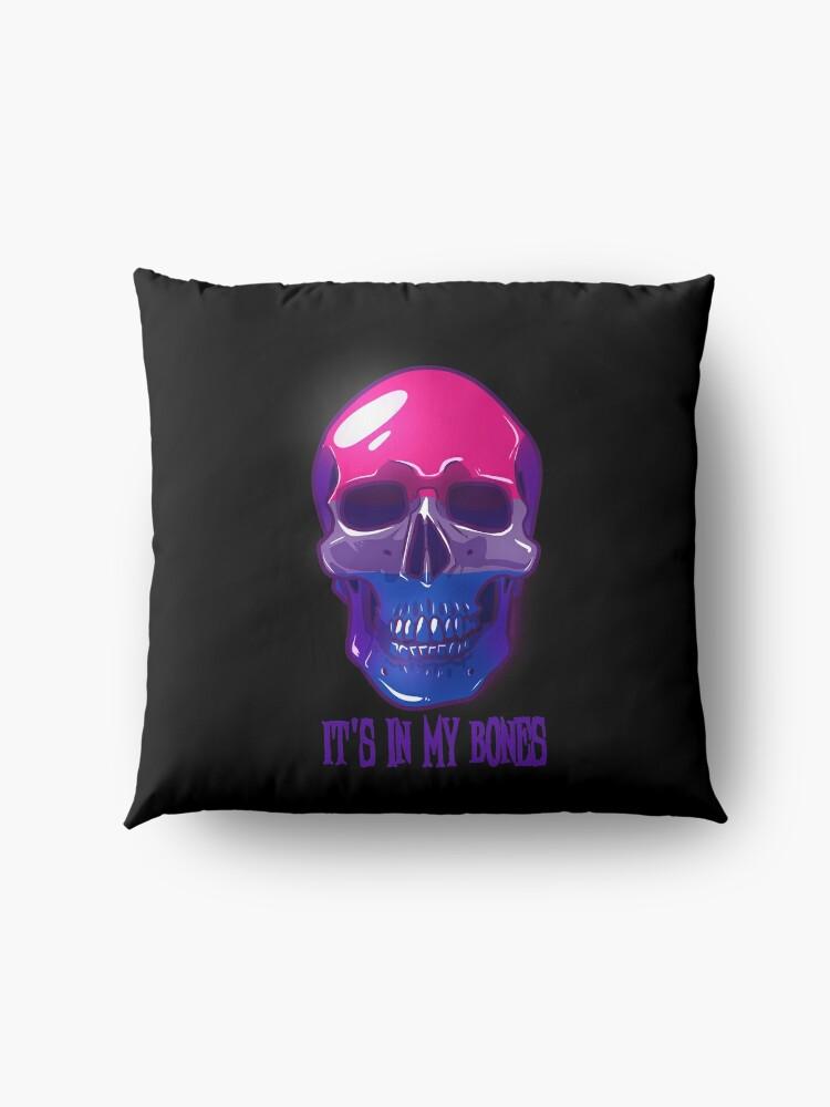 Alternate view of Bisexual Pride: It's In My Bones Floor Pillow