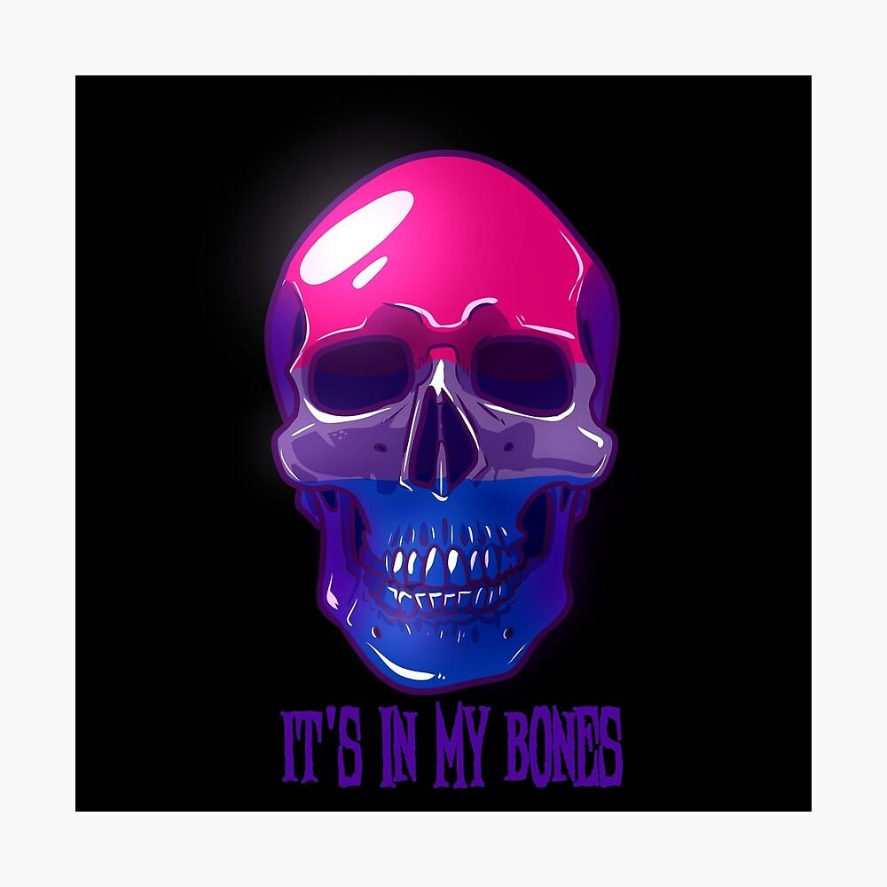 Bisexual Pride: It's In My Bones Photographic Print