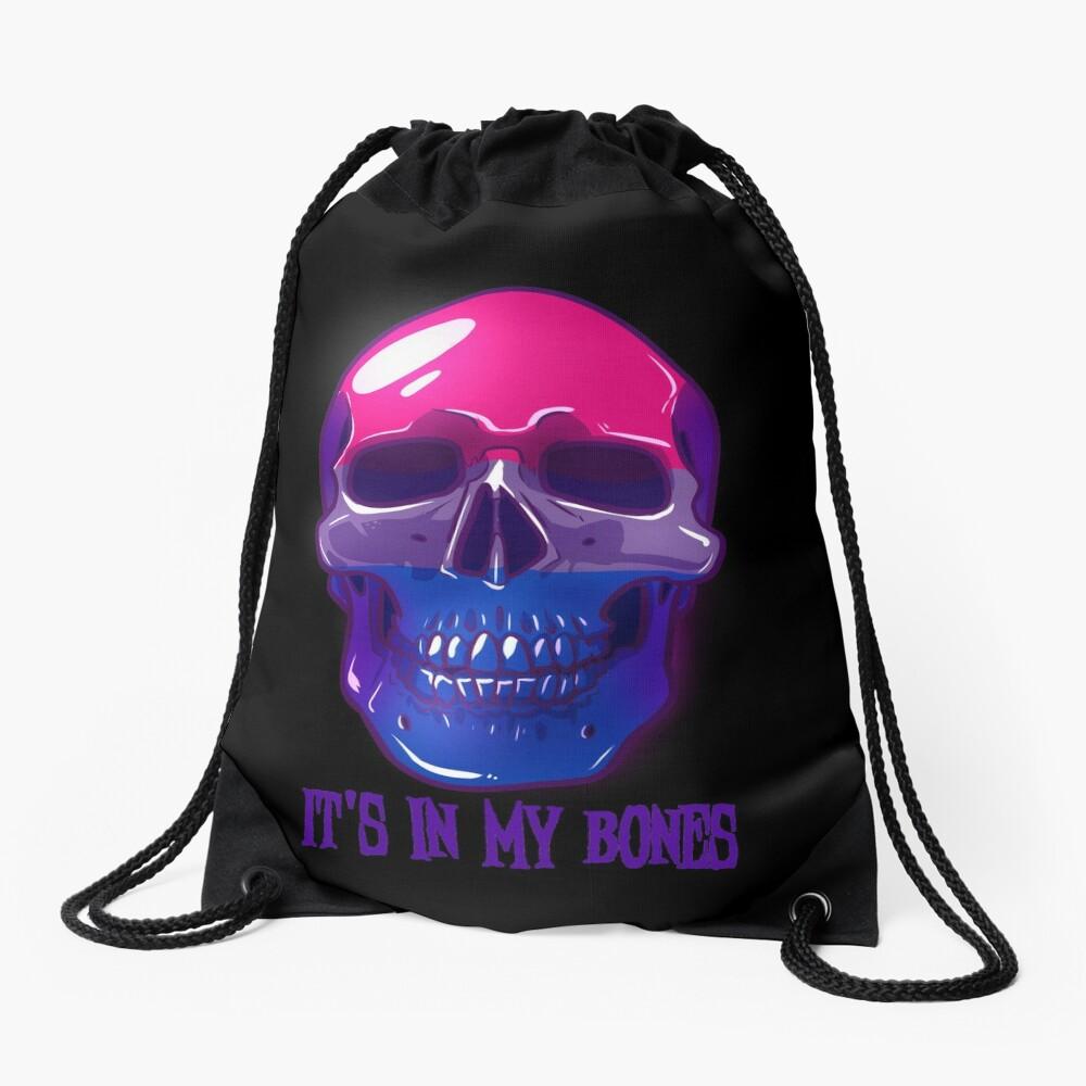 Bisexual Pride: It's In My Bones Drawstring Bag