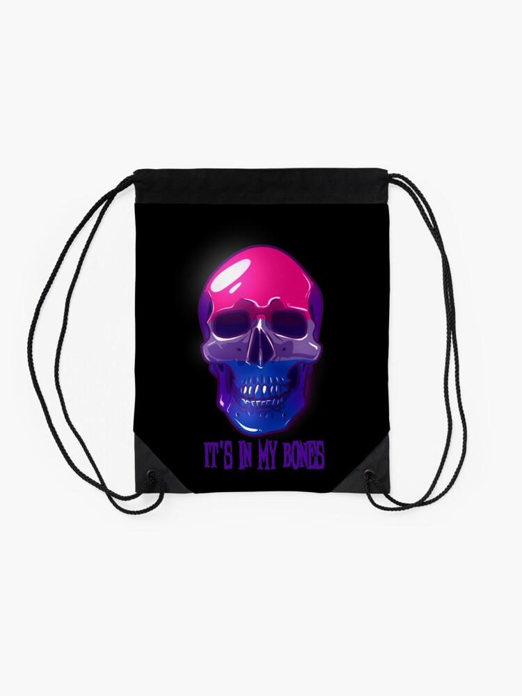 Alternate view of Bisexual Pride: It's In My Bones Drawstring Bag