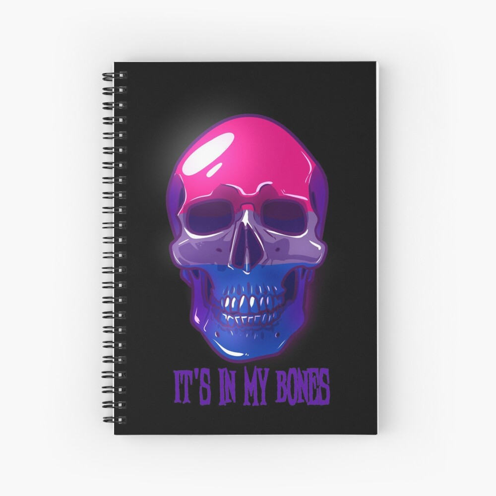 Bisexual Pride: It's In My Bones Spiral Notebook
