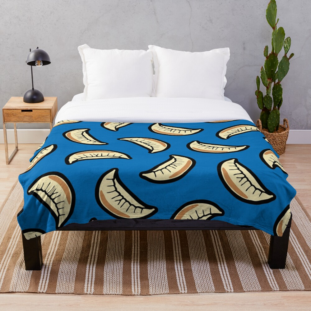 Gyoza Dumpling Pattern Throw Blanket