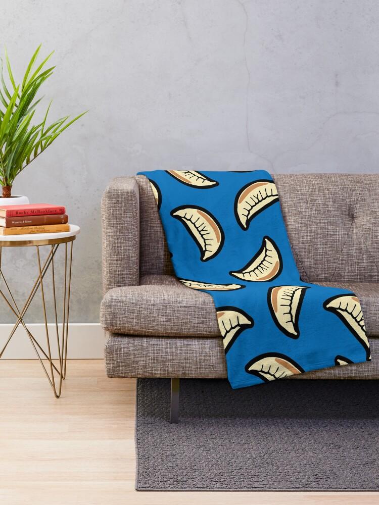 Alternate view of Gyoza Dumpling Pattern Throw Blanket
