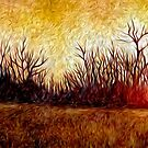Woods Fire Oil Painting by Fred Seghetti