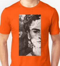 Black And White Frida Kahlo by Sharon Cummings T-Shirt