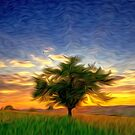 Oregon Sunrise Tree by Fred Seghetti