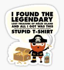 Monkey Island Pirate Melee Island Sticker