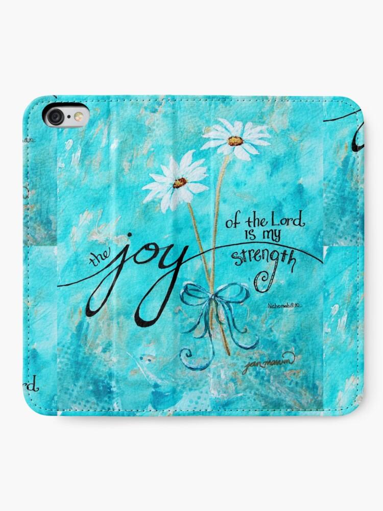Alternative Ansicht von Die Freude des Herrn ist meine Stärke von Jan Marvin iPhone Flip-Case