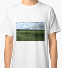 Green Field and Grey Sky - HDR Classic T-Shirt