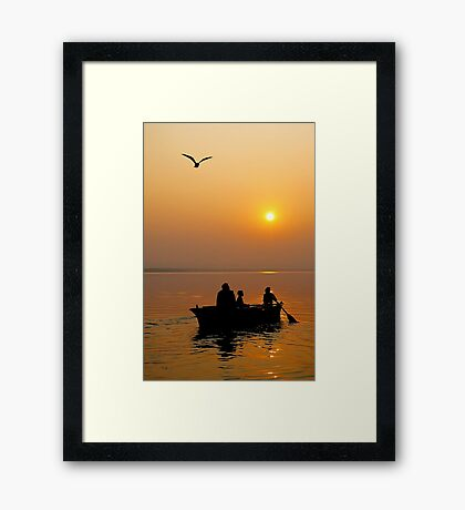 The Holy Ganga at Varanasi #2 Framed Print