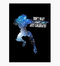 Mass Effect Silhouettes, Garrus - Don't Wait, Just Calibrate! Photographic Print