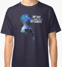 Mass Effect Silhouettes, Garrus - Don't Wait, Just Calibrate! Classic T-Shirt