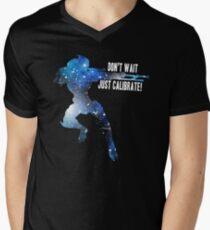 Mass Effect Silhouettes, Garrus - Don't Wait, Just Calibrate! Men's V-Neck T-Shirt