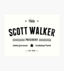 Vote Scott Walker Art Print