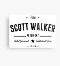 Vote Scott Walker Metal Print
