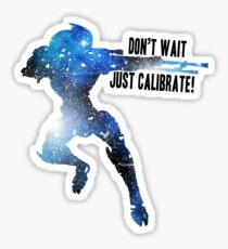 Mass Effect Silhouettes, Garrus - Don't Wait, Just Calibrate! Sticker