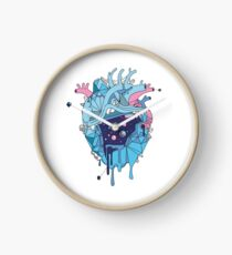 Frozen Alien Heart Clock