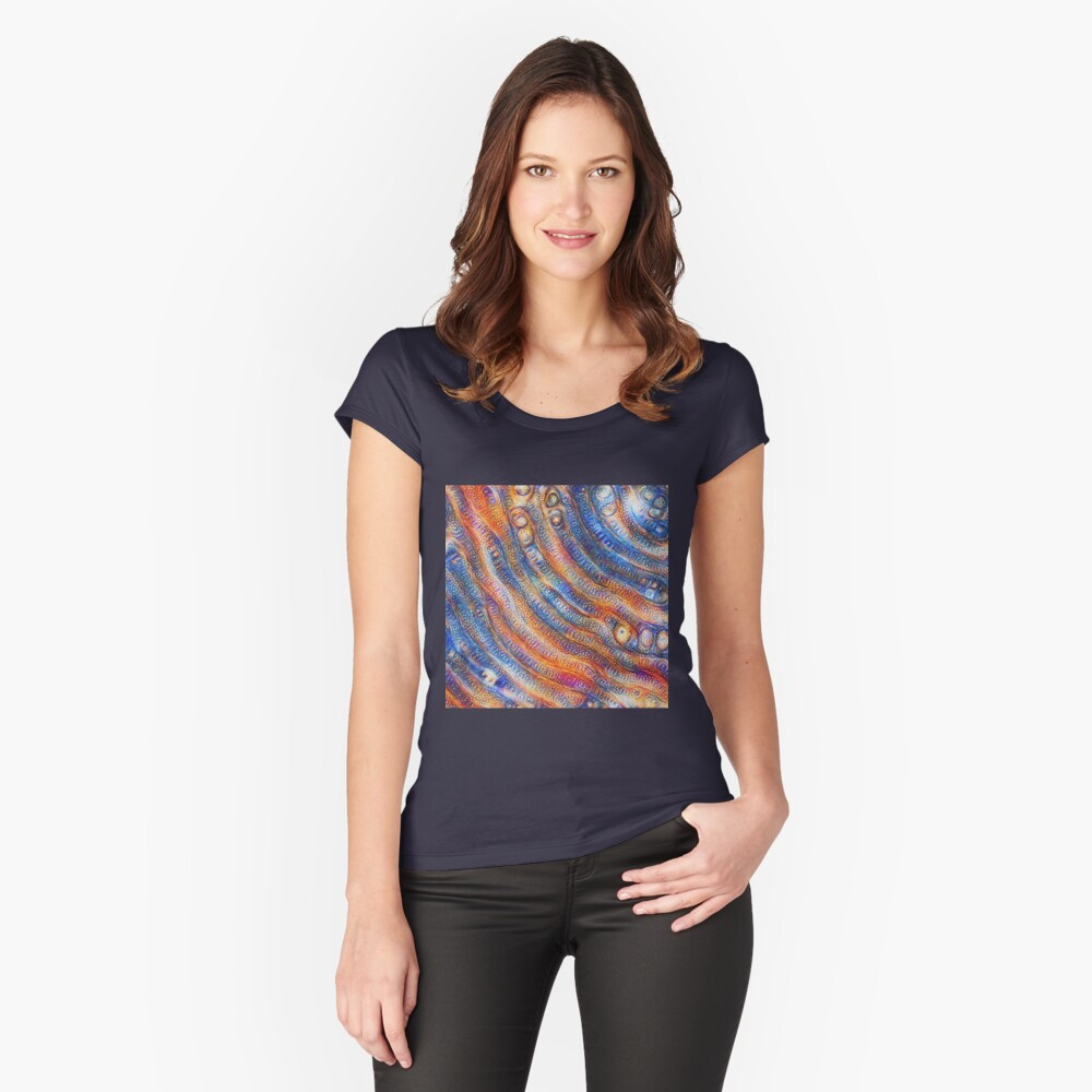 DeepDream abstraction close-up Fitted Scoop T-Shirt