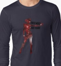 Mass Effect Silhouettes, Jack - Forced Meds? Bust Heads! Long Sleeve T-Shirt