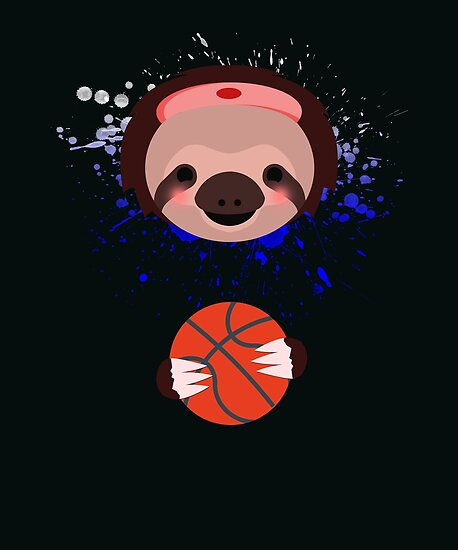 Quot Sloth Basketball Quot Poster By Wuselsusel Redbubble